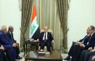 رئيس الوزراء العراقي حيدر العبادي يستقبل السيد عبد القادر مساهل ببغداد