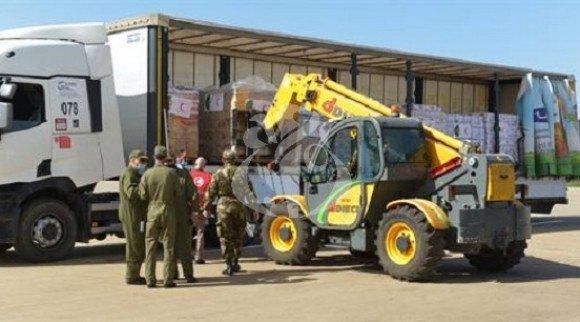 الجزائر ترسل 60 طن من المساعدات الغذائية إلى النيجر