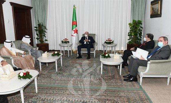 الرئيس تبون يستقبل وزير الخارجية ووزير الدولة لشؤون مجلس الوزراء لدولة الكويت